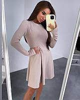 """Платье женское рубчик размеры: 42-44,46-48 (4цв)""""RUDAYA"""" недорого от прямого поставщика"""