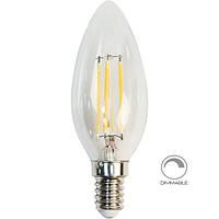 Светодиодная лампа LB-68  dimm C37 230V 4W 400Lm  E14 2700K
