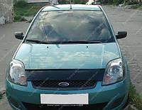 Дефлектор капота Форд Фиеста (мухобойка на капот Ford Fiesta)