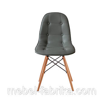 Стул обеденный велюр Микс мебель Джастин ножки бук, голубой