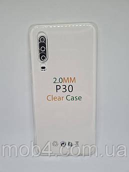 Прозрачный силиконовый чехол 2 мм. для Huawei P30