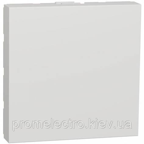 Заглушка, 2 модуля, белый, Unica NEW NU986618, фото 2