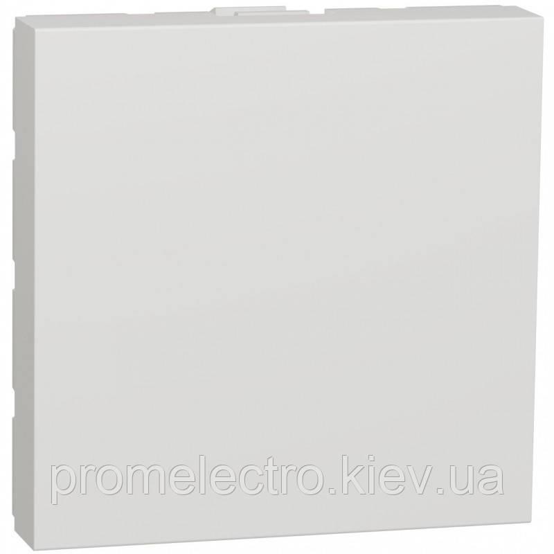 Заглушка, 2 модуля, белый, Unica NEW NU986618