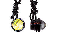 "COB LED DRL 5W 40мм линзы ""Орлиный Глаз"" + Стробоскоп / COB LED EAGLE EYE Strobe+DRL (Белый)"