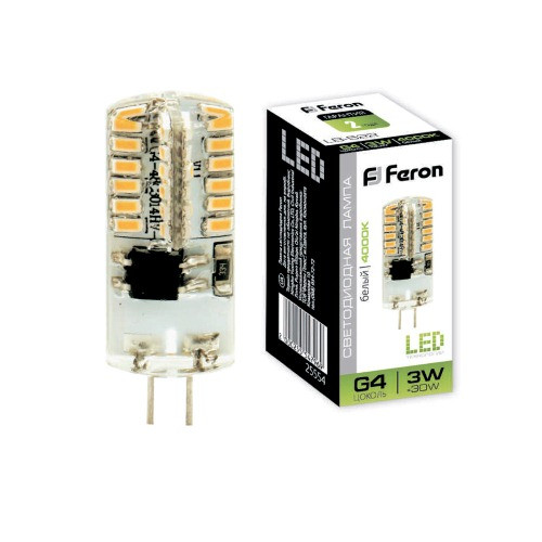 Светодиодная лампа LB-522  230V 3W 48leds G4 4000K 240lm