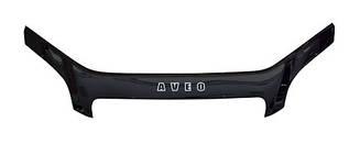 Дефлектор капоту (мухобійка, на кріпленні) на Chevrolet Aveo T300 2011+