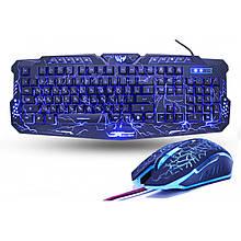 Геймерський комплект Ігрова клавіатура і миша з підсвічуванням V100