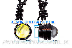 "COB LED DRL 5W 40мм линзы ""Орлиный Глаз"" + Стробоскоп / COB LED EAGLE EYE Strobe+DRL (Белый), фото 2"