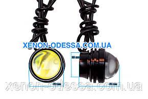 "COB LED Линзы ""Орлиный Глаз"" DRL 5W 40мм + функция Стробоскоп /  COB LED EAGLE EYE Strobe+DRL (Белый), фото 2"
