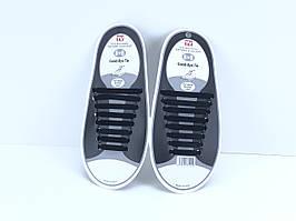 Силиконовые шнурки Good-Bye Tie (8+8) (черные)