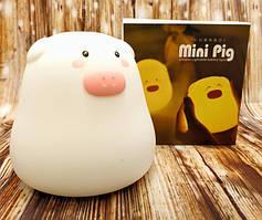 Ночной светильник силиконовый свинка mini pig