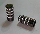 Карниз для штор металевий БАРАМЕЛЛА однорядний 19 мм 2.0 м Онікс (чорний блискучий), фото 2