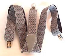 Підтяжки для штанів молодіжні ширина 3,5 см світло-сірі