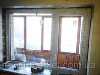 """Балконный блок Rehau 60 (окно глухое+дверь поворотно-откидная) - компания """"Окна Маркет"""" 044 227-93-49"""