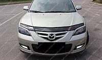 Дефлектор капота Мазда 3 (мухобойка на капот Mazda 3 седан)