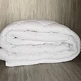 Одеяло на холлофайбере ОДА двуспального размера 175х210 Стеганное зимнее одеяло высокого качества Цвет - Белый, фото 4