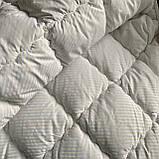 Одеяло на холлофайбере ОДА двуспального размера 175х210 Стеганное зимнее одеяло высокого качества Цвет - Белый, фото 2