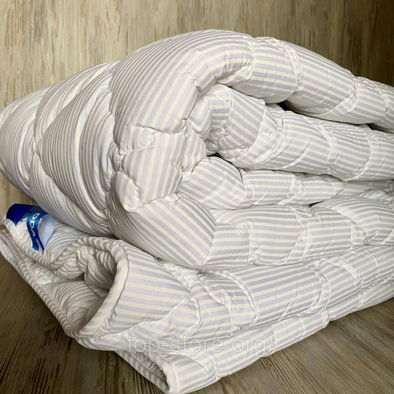 Одеяло на холлофайбере ОДА двуспального размера 175х210 Стеганное зимнее одеяло высокого качества Цвет - Белый