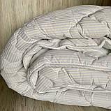 Одеяло на холлофайбере ОДА двуспального размера 175х210 Стеганное зимнее одеяло высокого качества Цвет - Белый, фото 5