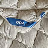 Одеяло на холлофайбере ОДА двуспального размера 175х210 Стеганное зимнее одеяло высокого качества Цвет - Белый, фото 6