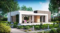 ZX105- проект одноэтажного современного дома, фото 1