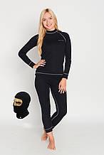 Комплект женского термобелья Rough Radical Rock  Черный с серой строчкой