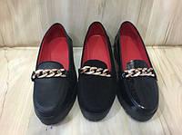 Женские туфли на низком ходу натуральная кожа