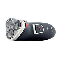 Бритва электрическая Vitek VT-1377 / Сухое бритье / Роторная (вращательная) система / 3 бритвенных головки / Работа от аккумулятора / Чистка под