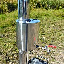 Водогрейка на 5л из нержавеющей стали для мобильной бани