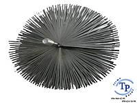 Щетка стальная для дымоходов, плоская (под резьбу) Ф200 мм