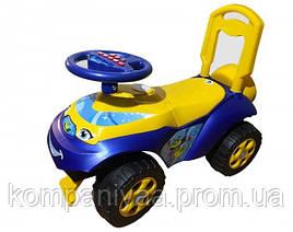 Дитяча машинка-толокар зі спинкою 0141/04 (Жовто-синій)