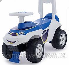 Дитячий машинка-толокар 0141/11 (Біло-синій)