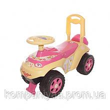 Дитяча машинка-толокар зі спинкою 0141/07 (Рожевий)