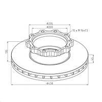 Диск тормозного механизма 81.50803-0009 для MAN 18.224