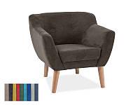 Мягкое кресло Signal Bergen-1 коричневый