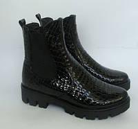 Молодежные ботинки Челси на тракторной подошве, натуральная кожа, фото 1