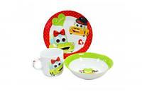 Набор детской посуды Машинка 3 предмета Оселя 22-194-076