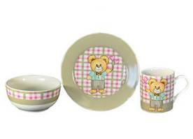 Набор детской посуды Медвежонок мальчик 3 предмета KERAMIA 21-272-015