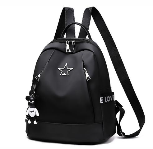 Рюкзак жіночий чорний з зіркою