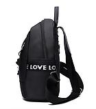 Рюкзак жіночий чорний з зіркою, фото 4