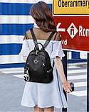 Рюкзак жіночий чорний з зіркою, фото 5
