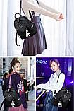 Рюкзак жіночий чорний з зіркою, фото 6