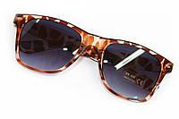 Леопардовые очки  из пластиковой глянцевой оправы