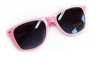 Женские розовые очки в пластиковой оправе