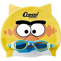 Детский набор для плавания Cressi Sub (очки для бассейна + шапочка), жёлтый