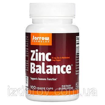 Jarrow Formulas, Zinc Balance, 100 капсул вегетаріанських