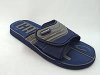 Тапки пляжные GAMBOL GM-13105 серо-голубые