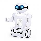Дитяча іграшка робот скарбничка PIGGY BANK ART-6688-8 з настільної LED-лампою сейф з кодовим замком + Подарунок, фото 7