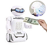 Дитяча іграшка робот скарбничка PIGGY BANK ART-6688-8 з настільної LED-лампою сейф з кодовим замком + Подарунок, фото 8
