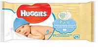 Влажные детские салфетки Huggies Pure Natural  56шт. (Хагис)